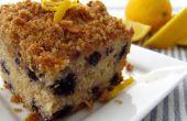 Citron-myrtille Crumb Cake