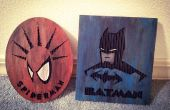 Laser gravé Art carton Spiderman & Batman