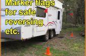 Marqueur de drapeaux pour inverser la voiture/remorque en toute sécurité