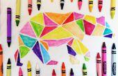 Crayon de couleur chemise