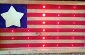 Le drapeau américain de LED.