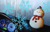 Bonhomme de neige bricolage | Arrêter les vitres de voiture remonte