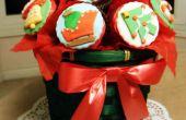 Plus doux présent pour donner : Bouquet de petits gâteaux de Noël