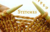 Comment ramasser a chuté de mailles en tricot à
