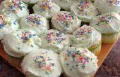 Cupcakes citron vert-clés