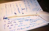 Faire une vraie plume plume d'écriture