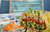 Terrine de saumon aux courgettes, Quinoa et épinards de fumé