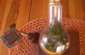 « Le jardin de Steampunk » dans une ampoule de