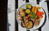 Légumes antipasti - italien marinée légumes dans l'huile