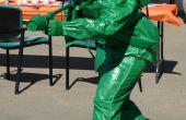 Plastique vert Toy Soldier avec lance-flammes Costume