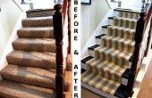 Revamp vieil escalier moquette
