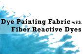 Peinture tissu de teinture avec colorants réactifs fibre
