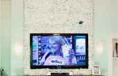 Bâche autour de votre téléviseur monté de mur de buis joli