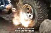 Re-gonfler un pneu de camion brouette ou main tubeless (sans explosifs)