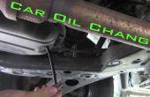 Changement de huile de voiture-l'emprise