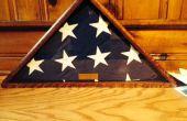 Cas de drapeau commémoratif avec seulement des Angles de 45 degrés