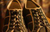 Fabriquer des chaussures lacées en pattes d'épaule amovibles avec chambres à air