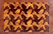 """Faire un M.C.Escher """"Lion ailé"""" fin planche à découper grain"""