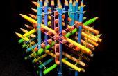 76 à crayons sculpture
