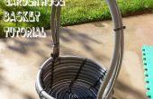 Recyclé panier de tuyau de jardin