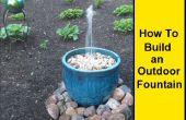 Comment faire une fontaine extérieure