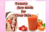 Masque de tomate pour peau claire