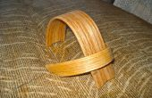 Socle ipod bois courbé