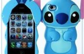 86Hero belle Disney 3D Stitch Housse Etui pour iPhone 4 4 s