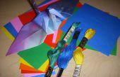 Origami grue lustre
