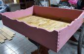 Chien de lit bois Vintage