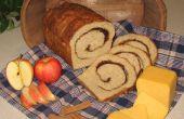 Cannelle-tourbillonnait Apple Cheddar pain