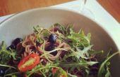 Sauce Soja + sirop d'érable vinaigrette salade de nouilles