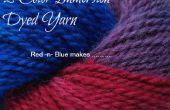 Teinture de fils multi couleur - fait rouge & bleu...