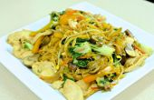 Chow Mein au poulet Velveted