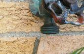 Fixation d'un robinet extérieur