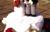 Tricoté le gâteau de mariage