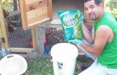 Qui a vu la poussière literie pour vos poules à l'aide de litière pour chat