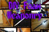 Peinture de mousse - bricolage mousse armes