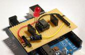 Stripboard Arduino shield pour la programmation ATtiny45 et ATtiny85