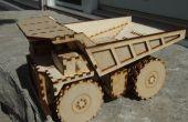 Laser Cut minier camion à benne basculante jouet