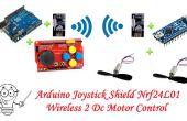 Joystick Arduino Shield Nrf24l01 Wireless 2 moteur à courant continu commande--RC voiture projet partie 1