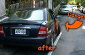 Couleur de mise en garde de porte voiture