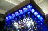 Aluminium cuivre couleur bière bouteille LED lumière lustre (avec bouchon économiseur d'écran)