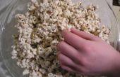 Canne de bonbon chocolat croquant de Popcorn