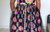 Robe d'inspiration vintage avec le tissu africain wax
