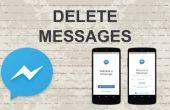 Supprimer les messages sur Facebook Messenger