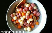 Mignon en forme Tang Yuan - boules de riz gluant nature au sirop de gingembre.