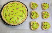 Verts, oeufs et Quiche jambon et tartelette