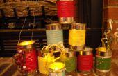 Bidons de seaux/lanternes/cadeaux de Noël (recycler)