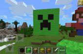Plante grimpante visage Minecraft Pixel Art